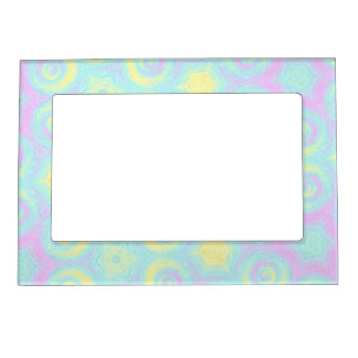 Pastel Spirals Magnetic Picture Frame