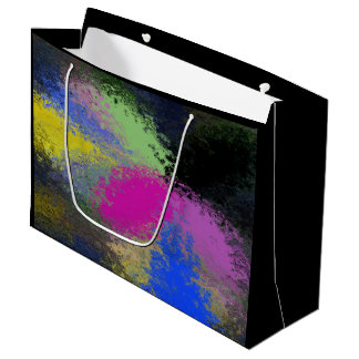 """Pastel Splash"" Large Glossy Gift Bag"