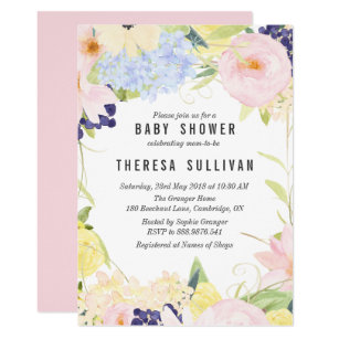 Spring baby shower invitations zazzle pastel spring flowers baby shower invitation filmwisefo