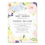 Pastel Spring Flowers Baby Shower Invitation