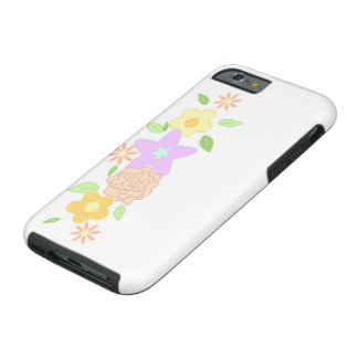 Pastel spring flowers tough iPhone 6 case