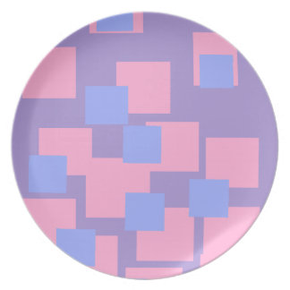 Pastel Squares Plate