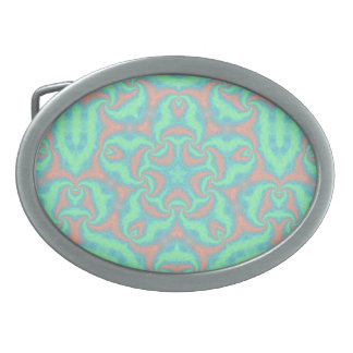 Pastel Star Mandala Belt Buckle