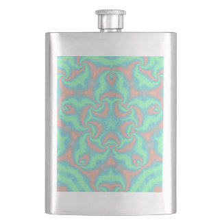 Pastel Star Mandala Hip Flask