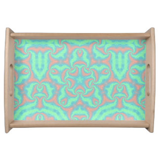 Pastel Star Mandala Serving Tray