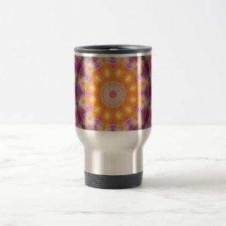 Pastel Star Mandala Travel Mug