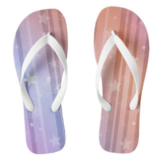 Pastel Stars and Stripes Thongs