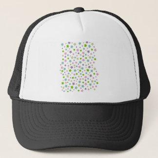 Pastel stars pattern trucker hat