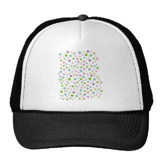 Pastel stars pattern trucker hats