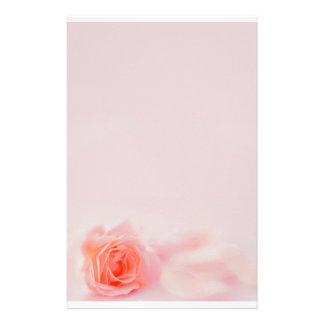 pastel stationery rose