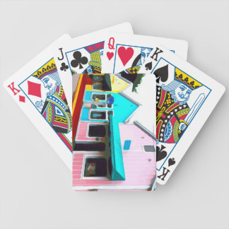 Pastel Stores in Key West Bicycle Playing Cards