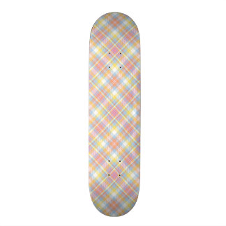 Pastel Stripe Plaid Skate Boards