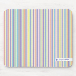 Pastel striped mousepad