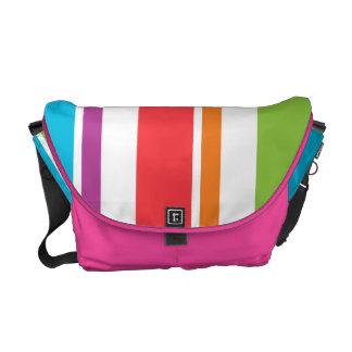 Pastel Striped Rickshaw Messenger Bag