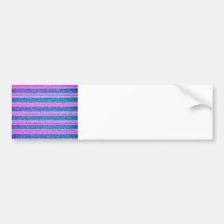 Pastel Stripes Bumper Sticker