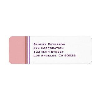 Pastel Stripes Business Return Address Label