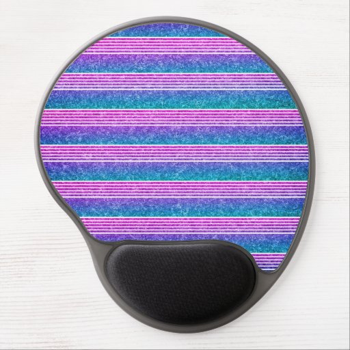 Pastel Stripes Gel Mouse Mat