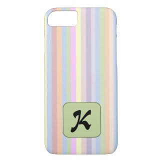 Pastel Stripes Letter Case