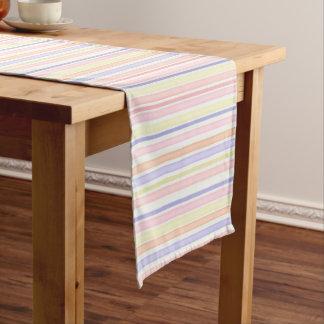 Pastel stripes short table runner