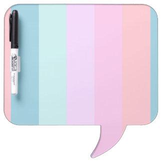 Pastel Stripes Whiteboard