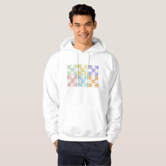 pastel sudoku mens hoodie hooded sweatshirt hoody