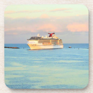 Pastel Sunrise and Cruise Ship Coaster