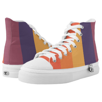 Pastel Sunset Stripes High Tops