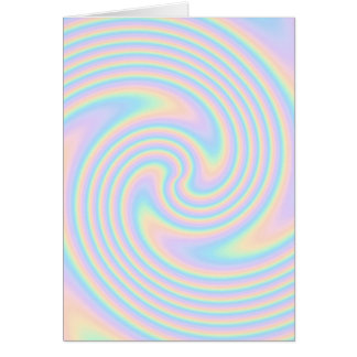 Pastel Swirl Twist Design Greeting Cards