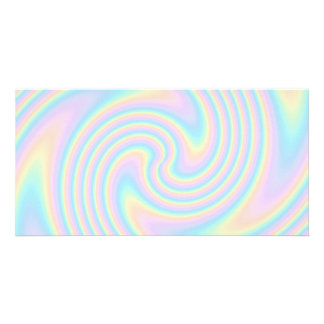 Pastel Swirl Twist Design. Custom Photo Card