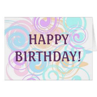Pastel Swirls Greeting Card