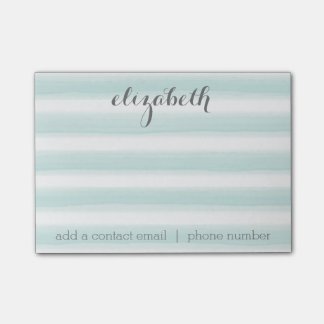 Pastel Teal and Grey Stationery Suite for Women Post-it Notes