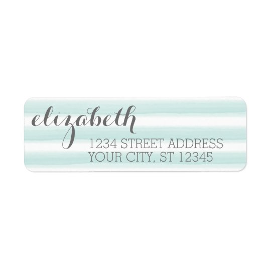 Pastel Teal and Grey Stationery Suite for Women Return Address Label