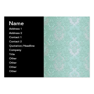 Pastel Teal Blue Green Damask Pack Of Chubby Business Cards