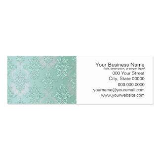 Pastel Teal Blue Green Damask Pack Of Skinny Business Cards