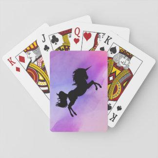 Pastel Texture Unicorn  Design Playing Cards