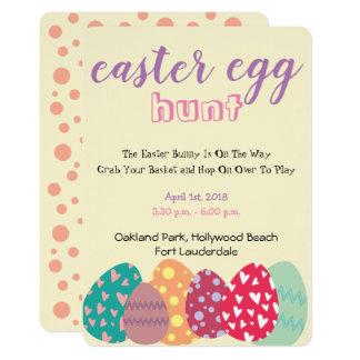 Pastel Themed Easter Egg Hunt Invitation