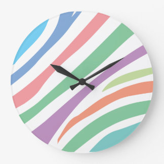 Pastel Tiger Print Large Clock