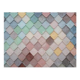 Pastel Tiles Postcard