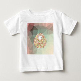 Pastel Tone Flowery Sheep Design Baby T-Shirt