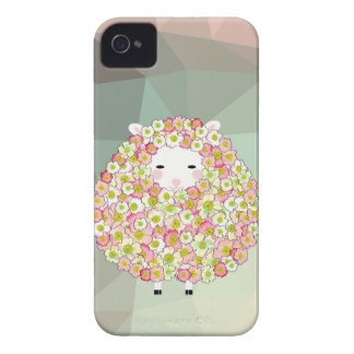 Pastel Tone Flowery Sheep Design iPhone 4 Covers