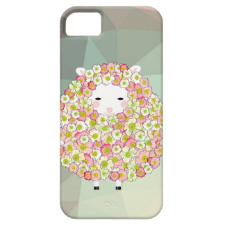 Pastel Tone Flowery Sheep Design iPhone 5 Cover