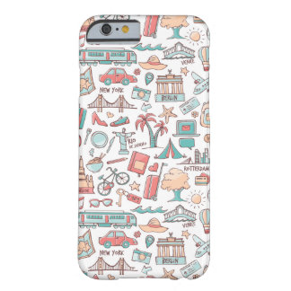 Pastel Tourist Pattern Barely There iPhone 6 Case