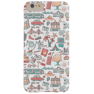 Pastel Tourist Pattern Barely There iPhone 6 Plus Case