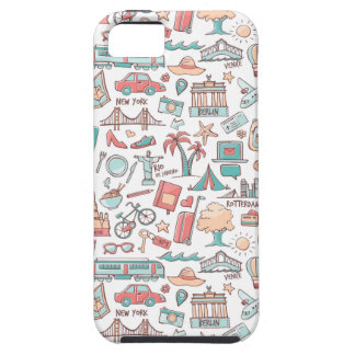 Pastel Tourist Pattern Case For The iPhone 5