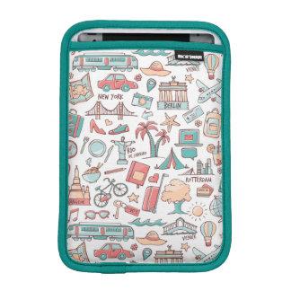 Pastel Tourist Pattern iPad Mini Sleeve