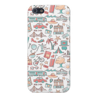 Pastel Tourist Pattern iPhone 5 Case