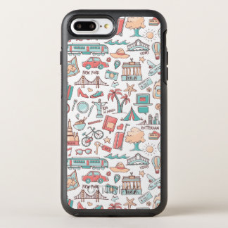 Pastel Tourist Pattern OtterBox Symmetry iPhone 8 Plus/7 Plus Case