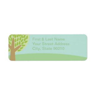 Pastel Tree & Sky Return Address Label