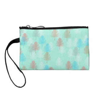 Pastel Trees Coin Purses