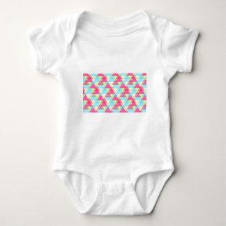Pastel triangles baby bodysuit
